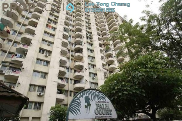 For Rent Condominium at Palm Court, Brickfields Freehold Semi Furnished 3R/2B 2.2k