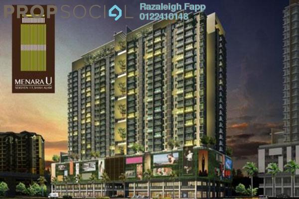 For Sale SoHo/Studio at Menara U, Shah Alam Leasehold Fully Furnished 2R/1B 395k