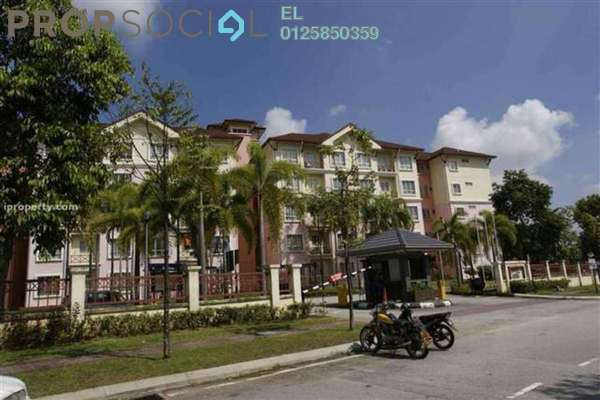 For Rent Condominium at Delima Apartment, Bukit Jelutong Freehold Semi Furnished 3R/2B 1.2k