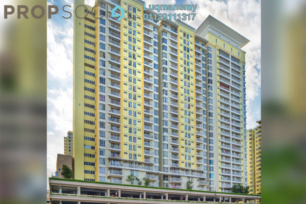 For Sale Condominium at Platinum Lake PV15, Setapak Leasehold Semi Furnished 3R/2B 600k