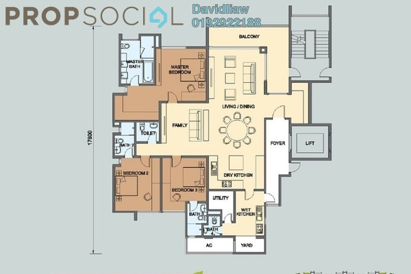 For Sale Condominium at Seri Riana Residence, Wangsa Maju Freehold Unfurnished 3R/4B 2.1m