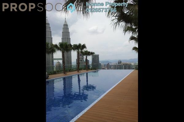 For Rent Condominium at Quadro Residences, KLCC Freehold Semi Furnished 3R/3B 7k