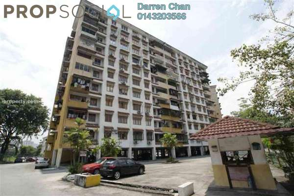 For Rent Apartment at Dahlia Apartment, Pandan Indah Leasehold Semi Furnished 3R/2B 1.3k
