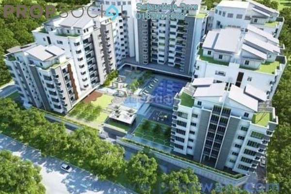 For Sale Serviced Residence at Section 14, Shah Alam Leasehold Semi Furnished 2R/2B 520k