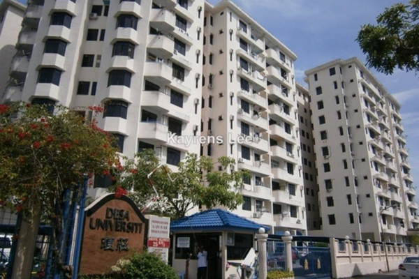 For Rent Apartment at Desa University, Sungai Dua Leasehold Unfurnished 3R/2B 1.4千