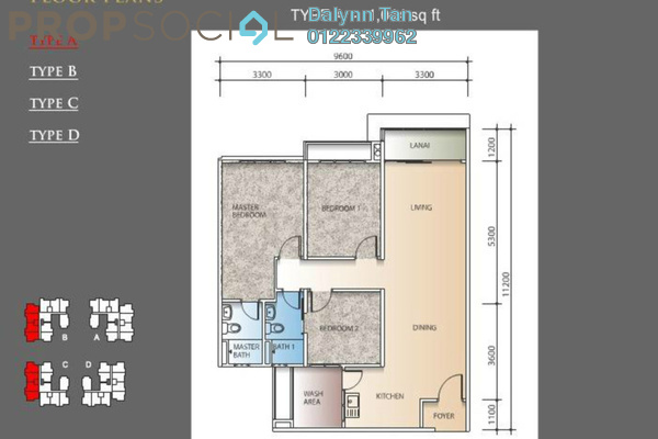 For Rent Condominium at The Regina, UEP Subang Jaya Leasehold Semi Furnished 3R/2B 1.6k