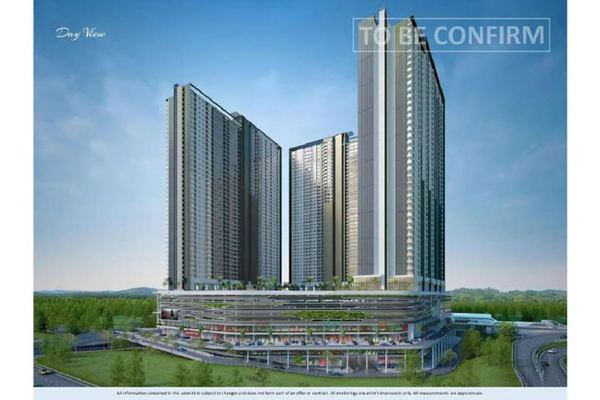 For Sale Condominium at United Point Residence, Segambut Freehold Unfurnished 2R/1B 470k