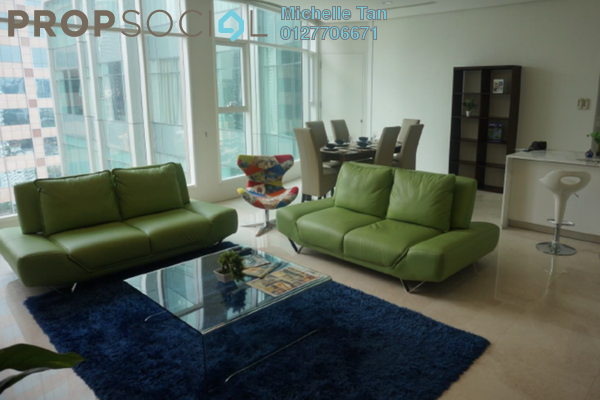 For Rent Condominium at Quadro Residences, KLCC Freehold Fully Furnished 3R/4B 13k