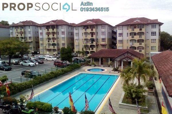 For Rent Apartment at Cemara Apartment, Kajang Freehold Semi Furnished 3R/2B 1.2k