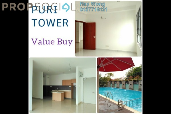 For Sale Condominium at Puri Tower, Puchong Leasehold Semi Furnished 3R/2B 470k