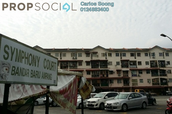 For Sale Apartment at Symphony Court, Ampang Leasehold Semi Furnished 3R/2B 280k