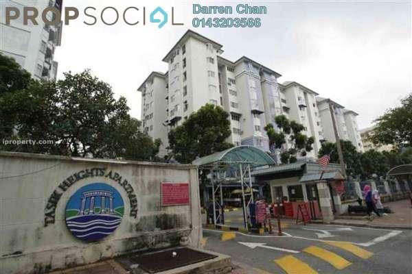 For Rent Apartment at Tasik Heights Apartment, Bandar Tasik Selatan Leasehold Semi Furnished 3R/2B 1.3k