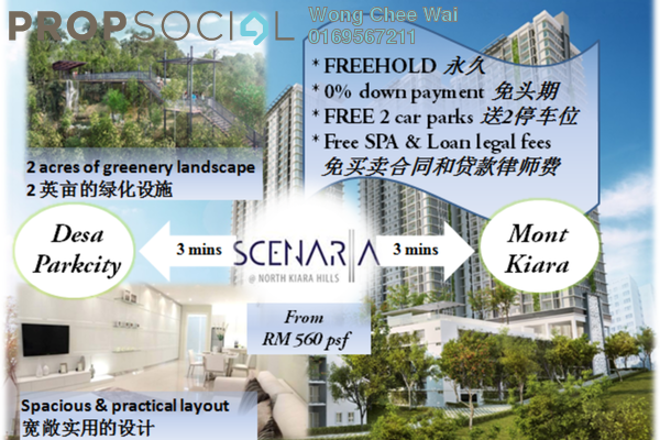For Sale Condominium at Scenaria, Segambut Freehold Unfurnished 3R/3B 710k