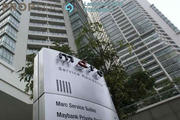 For Rent Serviced Residence at Marc Service Residence, KLCC Freehold Fully Furnished 4R/4B 15k