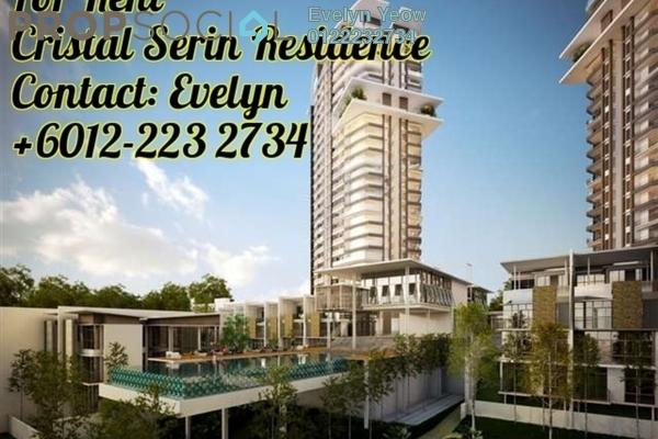 For Rent Condominium at Cristal Residence, Cyberjaya Freehold Semi Furnished 3R/2B 1.9k