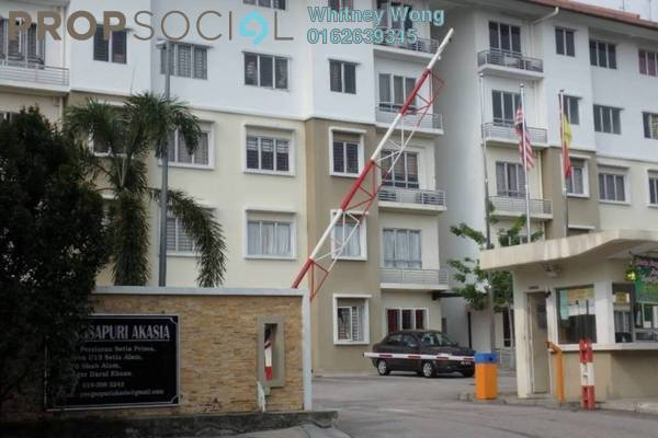 For Sale Apartment at Akasia Apartment, Setia Alam Freehold Unfurnished 3R/2B 285k