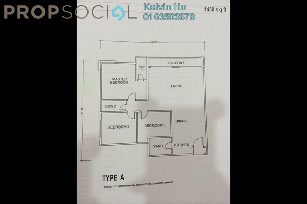 For Sale Condominium at Platinum Lake PV15, Setapak Leasehold Semi Furnished 3R/2B 600k