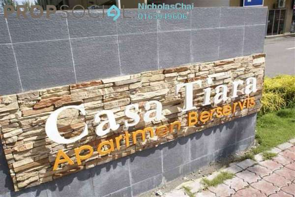 For Rent Condominium at Casa Tiara, Subang Jaya Freehold Semi Furnished 0R/1B 1.3k