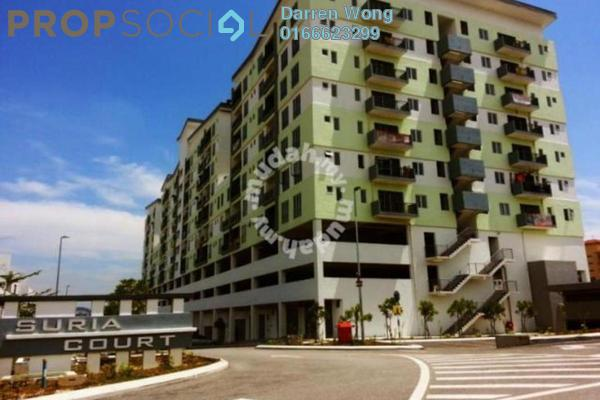For Rent Apartment at Suria Court, Bandar Mahkota Cheras Freehold Semi Furnished 3R/2B 1k