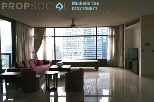 For Rent Condominium at The Troika, KLCC Freehold Fully Furnished 4R/4B 14k