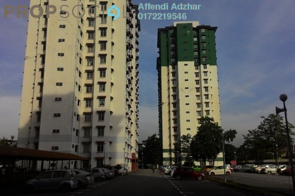 For Rent Apartment at Ilham Apartment, TTDI Jaya Leasehold Unfurnished 3R/2B 1.25k
