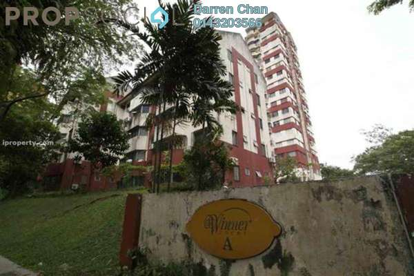 For Rent Condominium at Winner Court A, Desa Petaling Leasehold Semi Furnished 3R/2B 1.1k