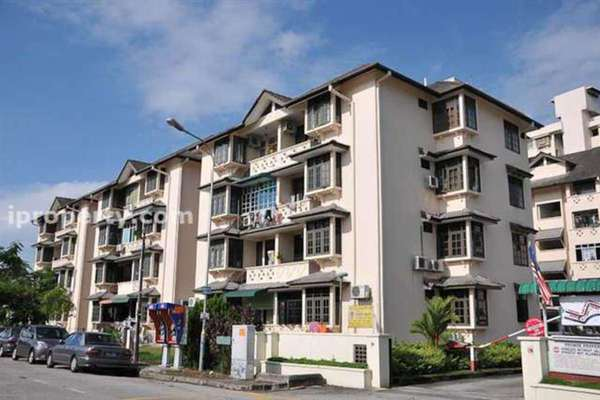 For Rent Apartment at Melati Apartment, Sungai Nibong Leasehold Fully Furnished 3R/2B 1.2k