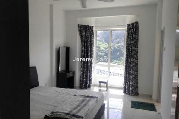For Rent Condominium at Regency Heights, Sungai Ara Leasehold Fully Furnished 3R/2B 1.2k