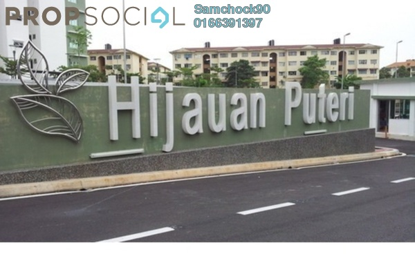 For Sale Condominium at Hijauan Puteri, Bandar Puteri Puchong Freehold Semi Furnished 3R/2B 430k
