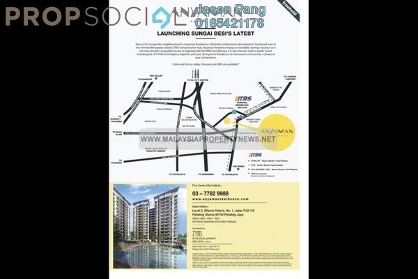 For Rent Condominium at Anyaman Residence, Bandar Tasik Selatan Freehold Semi Furnished 3R/2B 1.4k