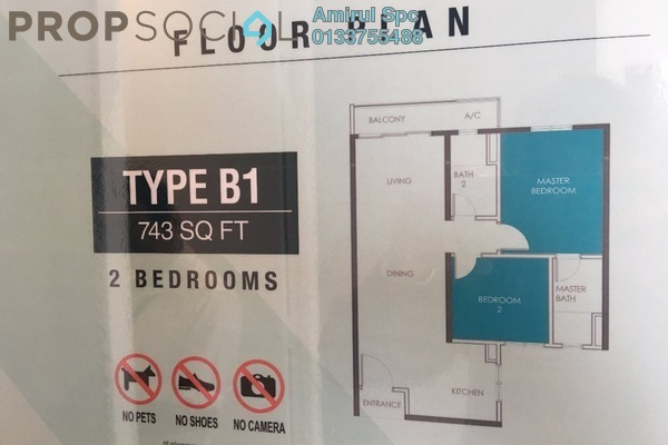 For Sale Serviced Residence at Sentul Point, Sentul Freehold Unfurnished 2R/2B 300k