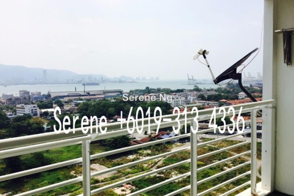 For Rent Duplex at Sea View Tower, Butterworth Freehold Fully Furnished 4R/3B 2.7千