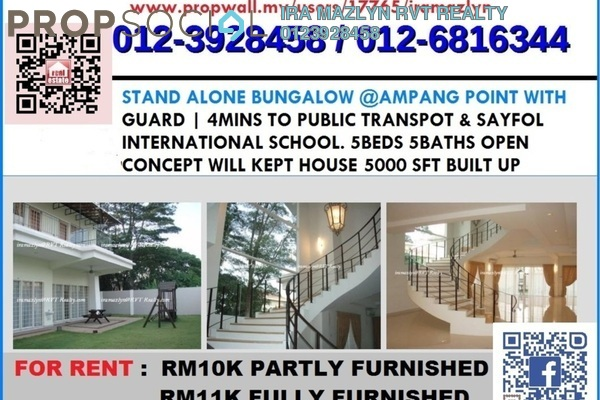 For Sale Bungalow at Taman Ampang Utama, Ampang Leasehold Fully Furnished 5R/5B 4.5m