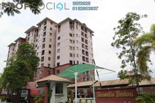 For Rent Condominium at Shamelin Bestari, Cheras Freehold Semi Furnished 3R/2B 1.6k