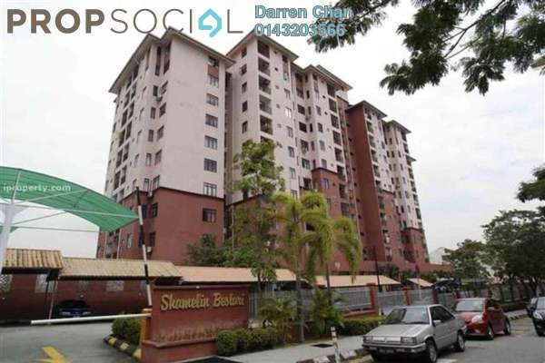 For Rent Condominium at Shamelin Bestari, Cheras Freehold Semi Furnished 3R/2B 1.7k