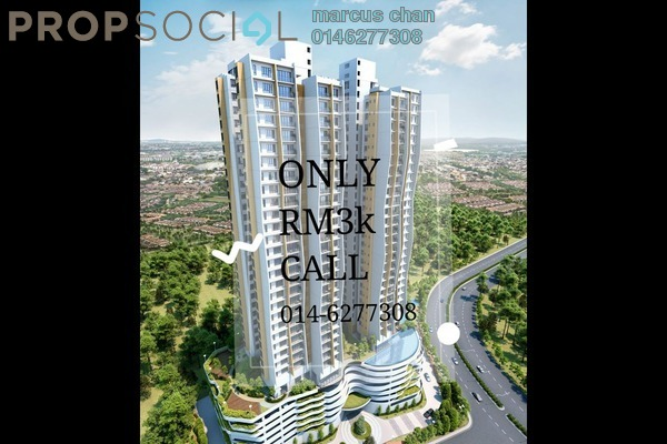 For Sale Condominium at The Clio Residences @ IOI Resort City, Putrajaya Freehold Unfurnished 2R/2B 611k