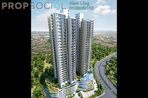 For Sale Condominium at The Clio Residences, IOI Resort City Freehold Semi Furnished 2R/1B 630k