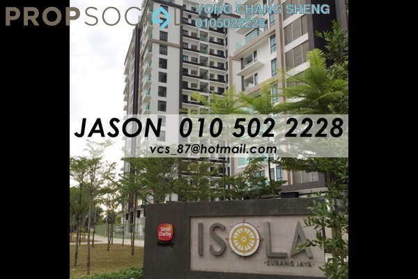 For Sale Condominium at Isola, Subang Jaya Freehold Fully Furnished 3R/3B 1.8m