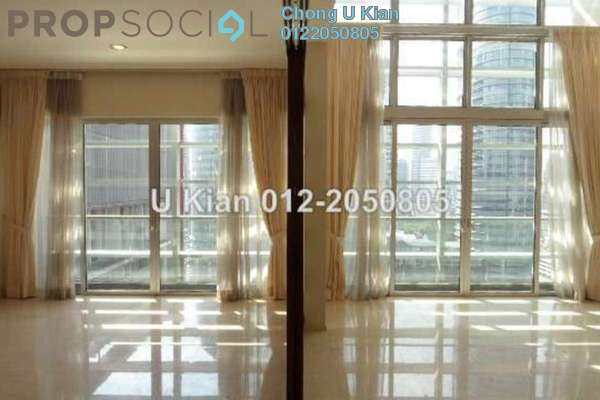 For Sale Duplex at Dua Residency, KLCC Freehold Semi Furnished 4R/5B 3.85m