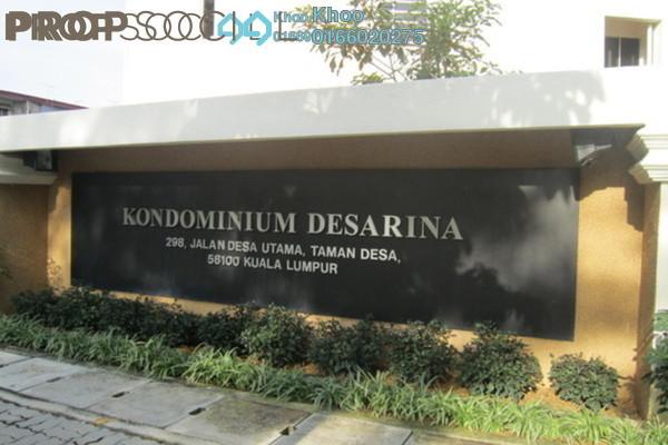For Rent Condominium at Desarina, Taman Desa Freehold Unfurnished 4R/3B 1.8k