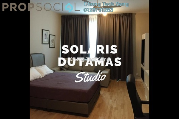 For Rent Serviced Residence at Solaris Dutamas, Dutamas Freehold Fully Furnished 0R/1B 1.8k
