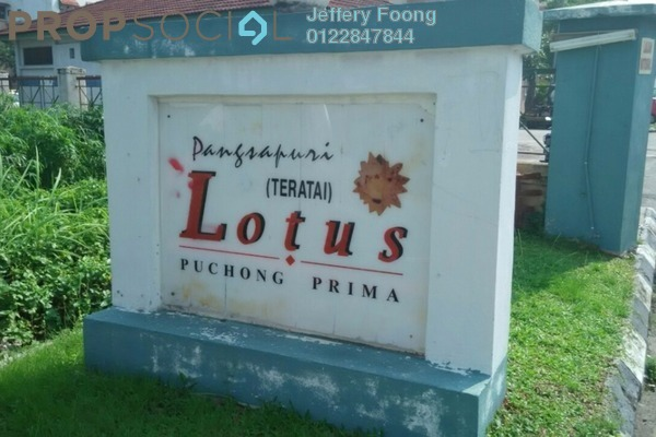 For Sale Condominium at Lotus Apartment, Puchong Freehold Semi Furnished 3R/2B 256k