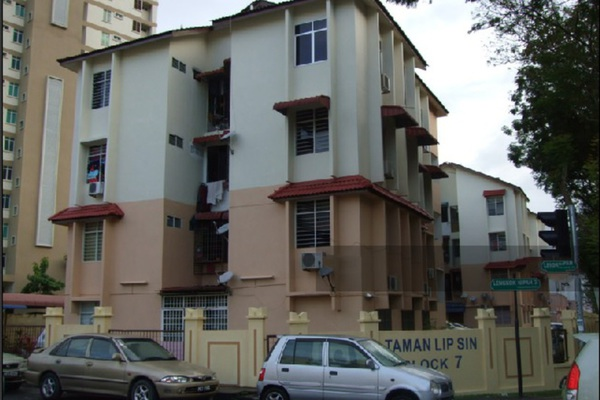 For Sale Condominium at Taman Lip Sin, Sungai Nibong Freehold Semi Furnished 3R/2B 310k