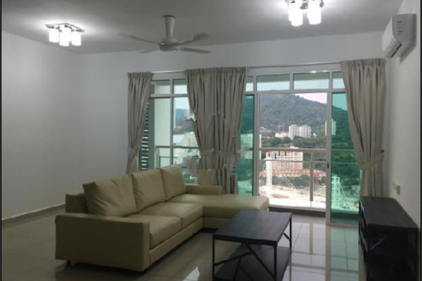 For Rent Condominium at Arena Residence, Bayan Baru Freehold Fully Furnished 3R/2B 1.95k