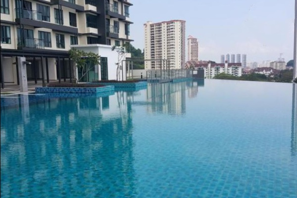 For Sale Condominium at Raffel Tower, Bukit Gambier Freehold Semi Furnished 3R/2B 830k
