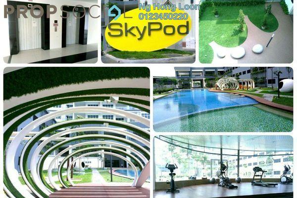 For Rent Serviced Residence at Skypod, Bandar Puchong Jaya Freehold Unfurnished 1R/1B 1.3k