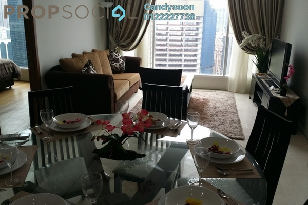 For Rent Condominium at Soho Suites, KLCC Freehold Fully Furnished 2R/2B 5.5k