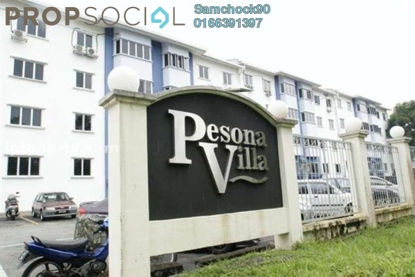 For Sale Condominium at Pesona Villa, Kemensah Freehold Semi Furnished 3R/2B 340k