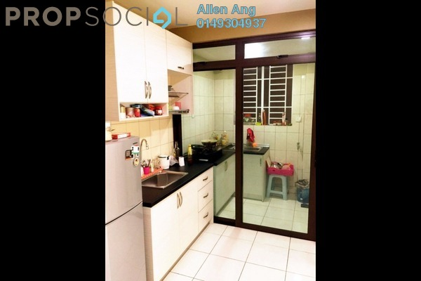 For Rent Condominium at Indah Alam, Shah Alam Freehold Semi Furnished 4R/2B 1.6k