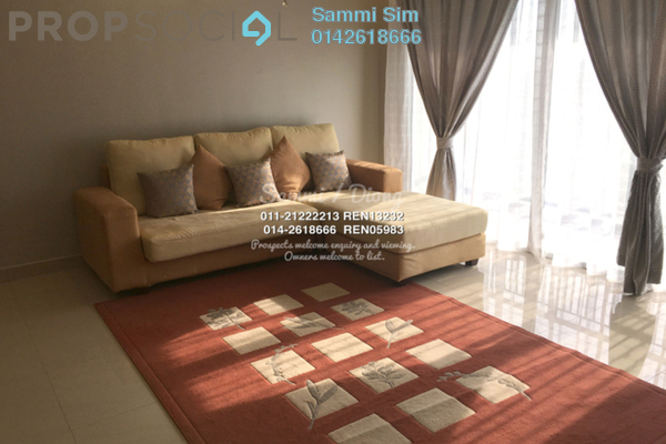 For Rent Condominium at Perdana View, Damansara Perdana Leasehold Fully Furnished 3R/2B 2k